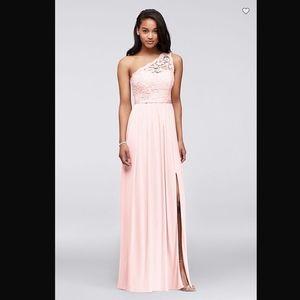 DAVIDS BRIDAL Long One Shoulder bridesmaid dress